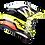 Thumbnail: Casque SCORPION VX-16 X-Turn - Noir / Jaune fluo / Blanc