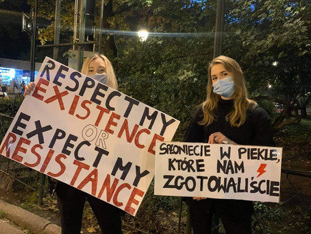 """My duty as a woman is to fight"": Meet Polish feminist Julia Schramm."
