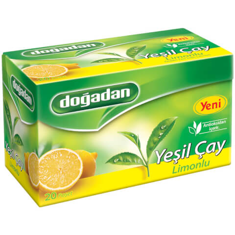 Doğadan Yeşil Çay Limon 20 li