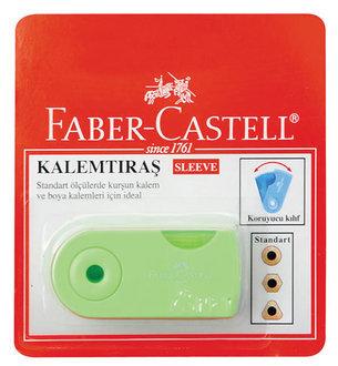 Faber Castell Sleeve Kalemtıraş Şeffaf Gövdeli