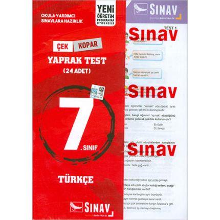 Sınav 7.Sınıf Türkçe Yaprak Test