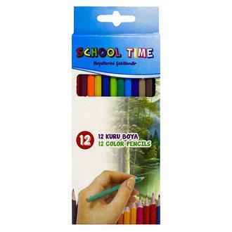 School Time Kuru Boya 12-Renk
