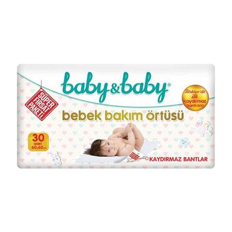 Baby Baby Bebek Bakım Örtüsü Kaydırmaz Bantlı 30lu