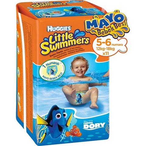 Huggies Mayo Bebek Bezi 5-6 Beden Little Swimmers 11li
