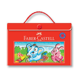 Faber Castell Redline 18 Renk Çantalı Pastel Boya Tutacaklı