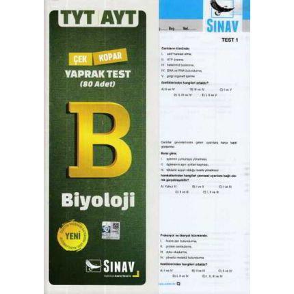 Sınav TYT AYT Biyoloji Yaprak Test