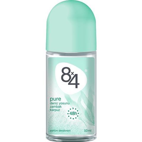 8X4 Roll-On Pure Deodorant 50ml Kadın