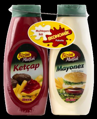 Bizim Mutfak Ketçap-Mayonez 650+750gr
