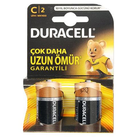 Duracell Alkalin C Orta Boy Pil 2'Li