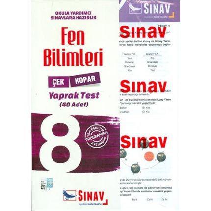 Sınav 8.Sınıf Fen Bilimleri Çek Kopar Yaprak Test