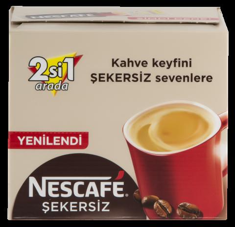 Nescafe 2+1 Şekersiz 10 Gr (48 Adet)