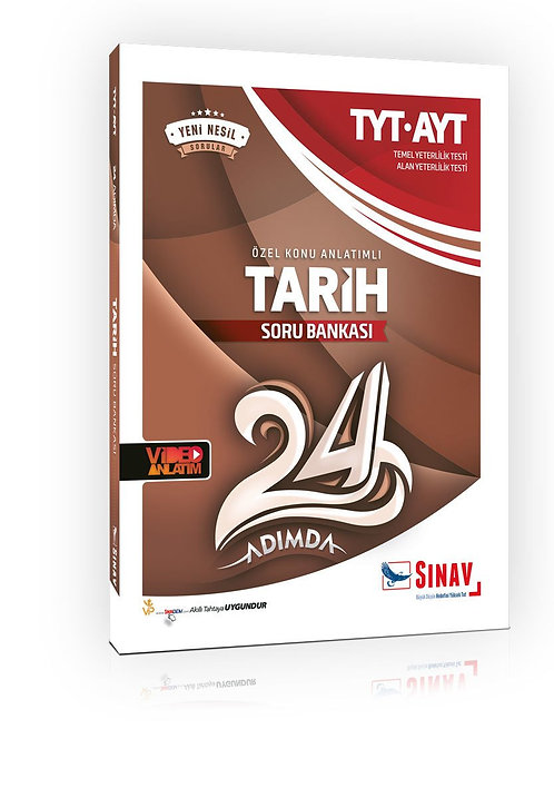 Sınav Yayınları TYT AYT Tarih 24 Adımda Özel Konu Anlatımlı Soru Bankası