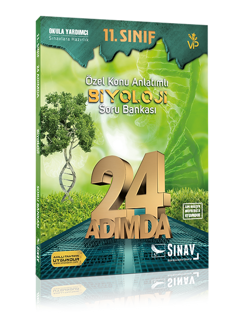 Sınav Yayınları 11. Sınıf Biyoloji 24 Adımda Özel Konu Anlatımlı Soru Bankası
