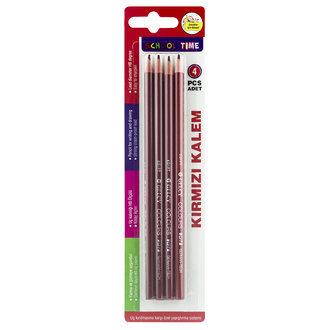 School Time Kırmızı Kalem 4-Lü