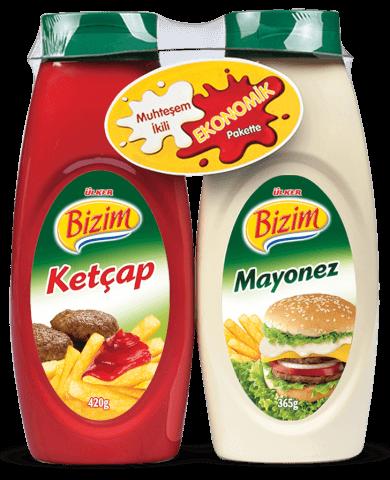 Bizim Mutfak Ketçap-Mayonez 420+365 Gr