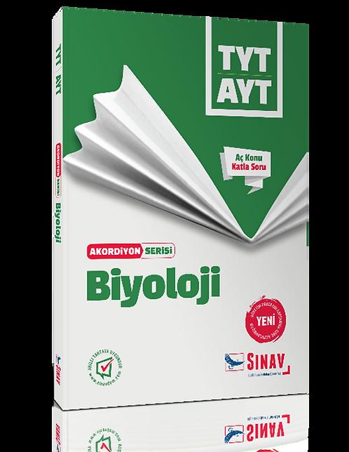 Sınav Yayınları TYT AYT Biyoloji Akordiyon Kitap