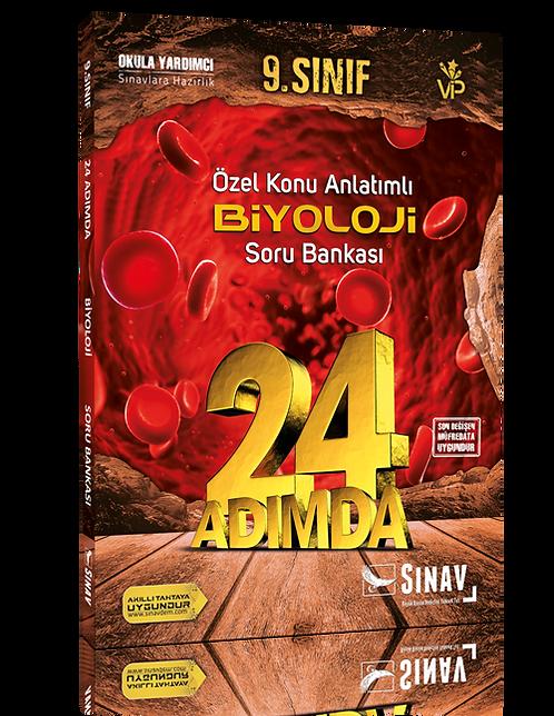 Sınav Yayınları 9. Sınıf Biyoloji 24 Adımda Özel Konu Anlatımlı Soru Bankası