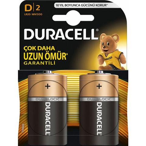 Duracell Pil D Büyük Boy 2 Li Lr-20