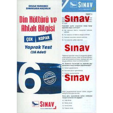Sınav Dergisi 6.Sınıf Din Kültürü ve Ahlak Bilgisi Çek Kopar Yaprak Test