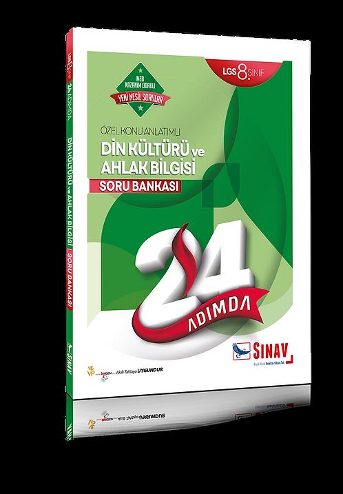 Sınav Yayınları 8. Sınıf LGS Din Kültürü ve Ahlak Bilgisi 24 Adımda Özel Konu An