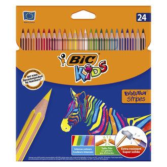 BIC Evolution Stripes Kuru Boya Kalemi 24'lü Kutu
