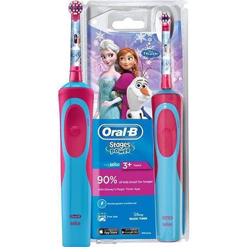 Oral B Frozen Çocuklar İçin Şarj Edilebilir Diş Fırçası (3+ Yaş)