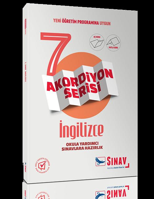 Sınav Yayınları 7. Sınıf İngilizce Akordiyon Kitap