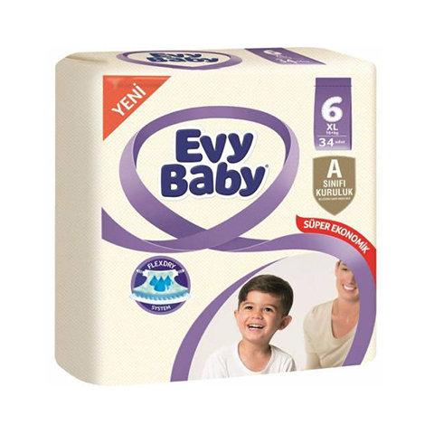 EVY BABY BEBEK BEZİ DEV PAKET 6 BEDEN 34lü