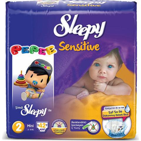 Sleepy Sensitive Bebek Bezi 2 Beden Mini Jumbo 42li Ped Hediyeli