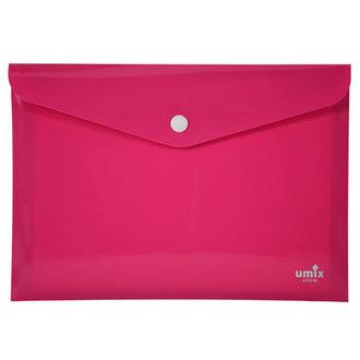 Umix Neon Çıtçıtlı Dosya A4 Pembe