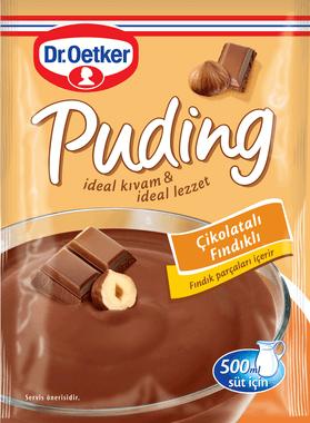 Dr.Oetker Çikolatalı Fındıklı Puding 102 Gr
