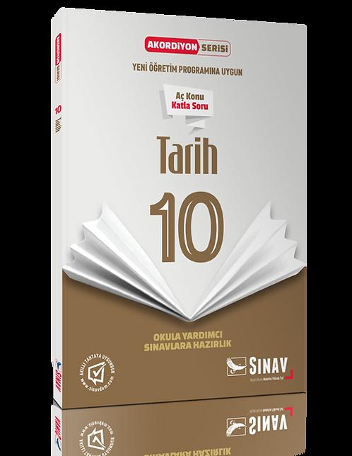 Sınav Yayınları 10. Sınıf Tarih Akordiyon Kitap
