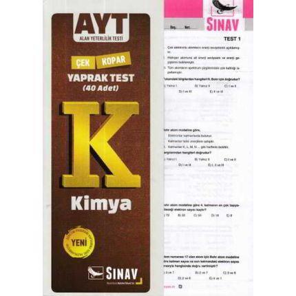 Sınav AYT Kimya Yaprak Test