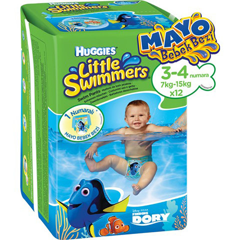 Huggies Mayo Bebek Bezi Little Swimmers 3-4 Beden 12li