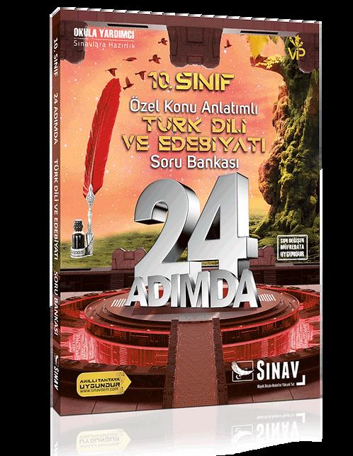 Sınav Yayınları 10. Sınıf Türk Dili ve Edebiyatı 24 Adımda Özel Konu Anlatımlı S
