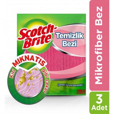 SCOTCH BRITE MİKROFİBER TEMİZLİK BEZİ 3lü