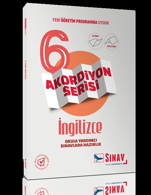 Sınav Yayınları 6. Sınıf İngilizce Akordiyon Kitap