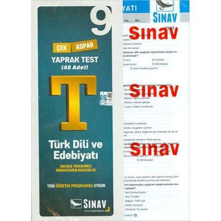 Sınav 9.Sınıf Türk Dili ve Edebiyatı Çek Kopar Yaprak Test