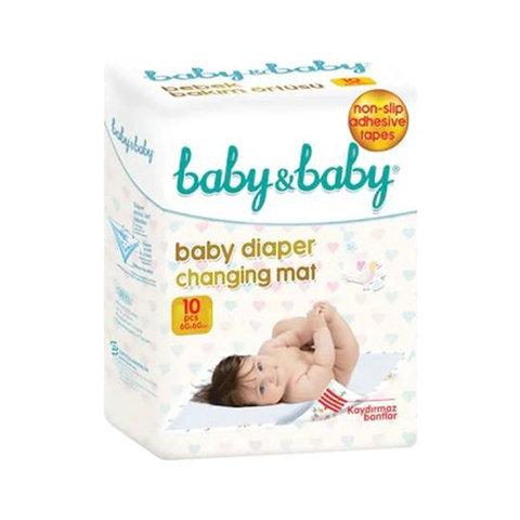 Baby Baby Bebek Bakım Örtüsü Kaydırmaz Bantlı 10lu