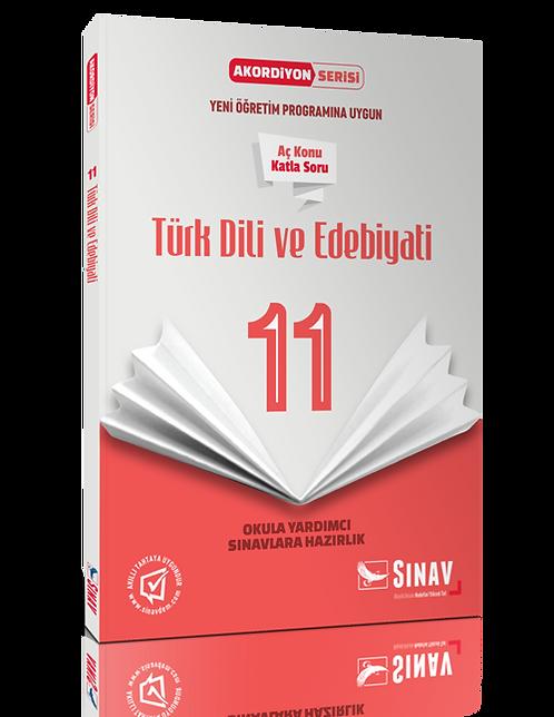 Sınav Yayınları 11. Sınıf Türk Dili ve Edebiyatı Akordiyon Kitap
