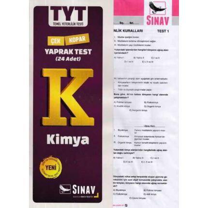 Sınav TYT Kimya Yaprak Test