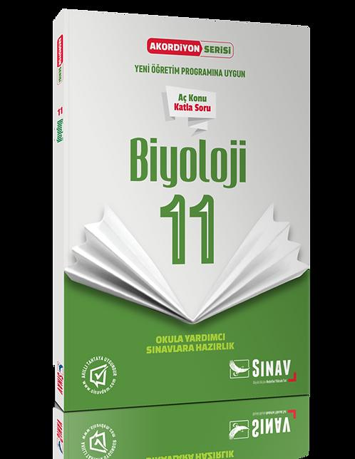 Sınav Yayınları 11. Sınıf Biyoloji Akordiyon Kitap