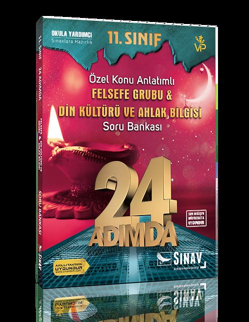 Sınav Yayınları 11. Sınıf Felsefe Grubu Din Kültürü ve Ahlak Bilgisi 24 Adımda Ö