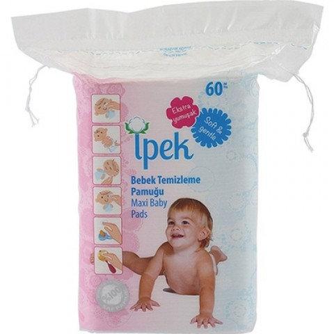 İpek Hidrofil Maxi Bebek Pedi 60'lı Temizleme Pamuğu