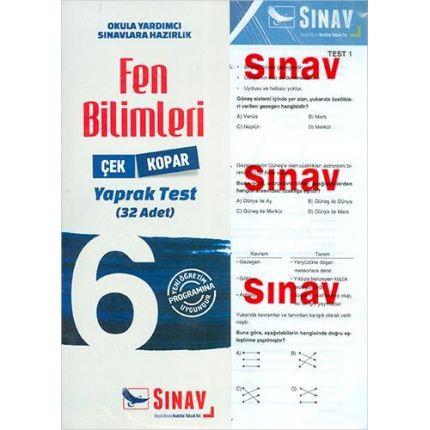 Sınav 6.Sınıf Fen Bilimleri Çek Kopar Yaprak Test