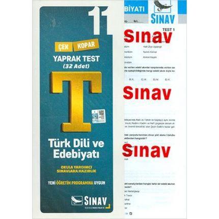 Sınav 11.Sınıf Türk Dili ve Edebiyatı Yaprak Test