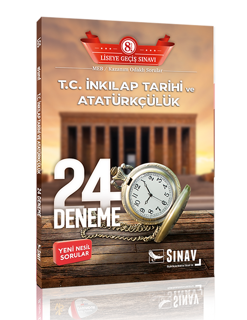 Sınav Yayınları 8. Sınıf LGS T.C. İnkılap Tarihi ve Atatürkçülük 24 Deneme