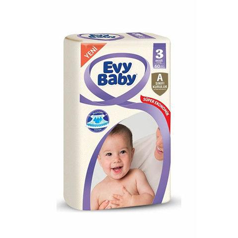 EVY BABY BEBEK BEZİ DEV PAKET 3 BEDEN 60lı