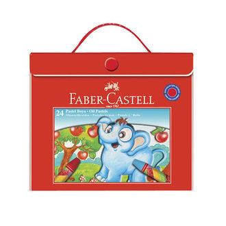 Faber Castell Redline 24 Renk Plastik Çantalı Lüks Pastel Boya