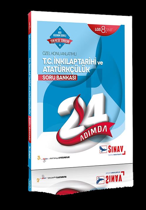 Sınav Yayınları 8. Sınıf LGS T.C. İnkılap Tarihi ve Atatürkçülük 24 Adımda Özel